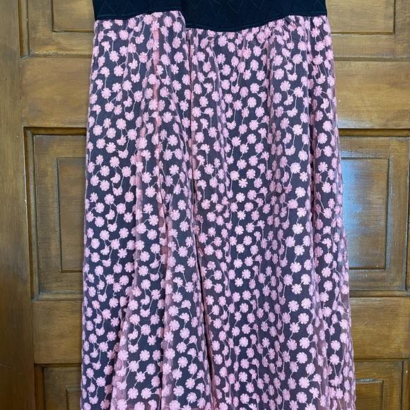 Black with pink chiffon LLR Lola skirt.